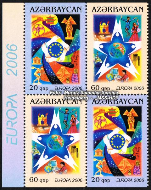 Stamp Issue Azerbaijan: Europe CEPT 2006 Booklet Sheetlet