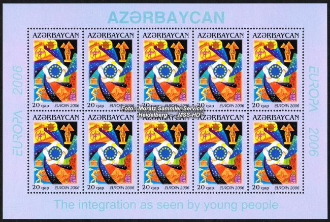 Stamp Issue Azerbaijan: Europe CEPT 2006 - Integration - Sheetlet