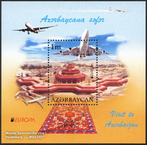 Briefmarken-Ausgabe Aserbaidschan: EUROPA CEPT Gemeinschaftsausgabe 2012 - Besuche Aserbaidschan