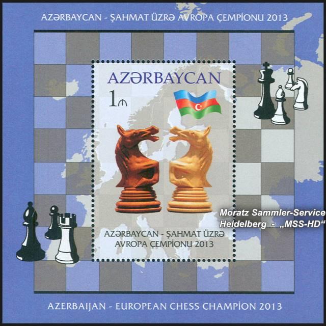 Briefmarken-Ausgabe Aserbaidschan: Aserbaidschan - Europäischer Schachmeister 2013