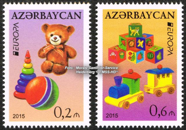 Stamp issue Azerbaijan: EUROPA CEPT   Companionship 2015 - Old toys
