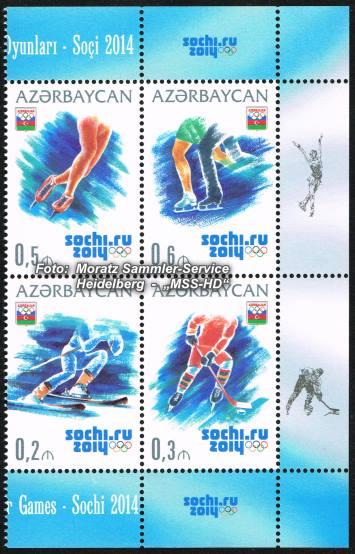 Stamp issue Azerbaijan: Olympia 2014 Sochi / Sotschi