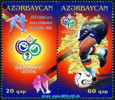 Briefmarken-Ausgabe Aserbaidschan: Fußball-WM Deutschland 2006
