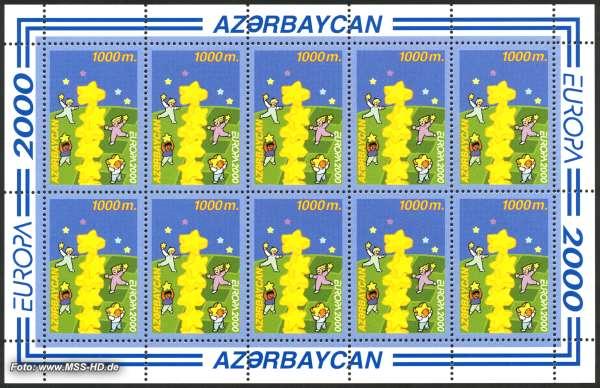 Briefmarken-Ausgabe Aserbaidschan: Europe CEPT 2000 - Sternenturm