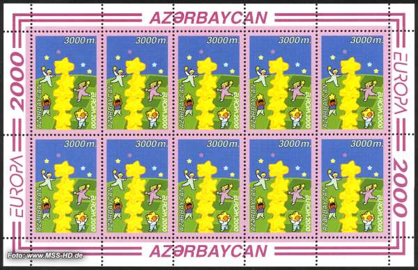 Stamp Issue Azerbaijan: Europe CEPT 2000