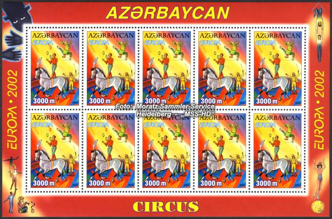 Stamp Issue Azerbaijan: Europe CEPT Companionship 2002 Circus