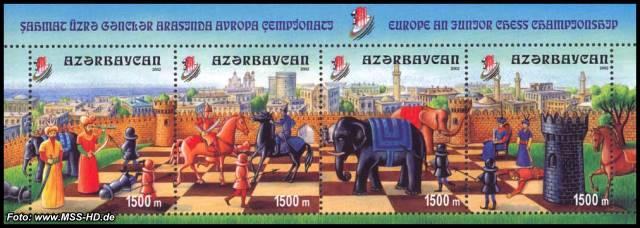 Briefmarken-Ausgabe Aserbaidschan: Europäische Schachmeisterschaft der Junioren, Baku