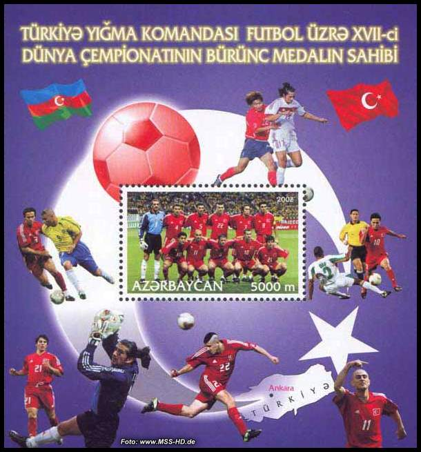 Stamp Issue Azerbaijan: Fire Engines