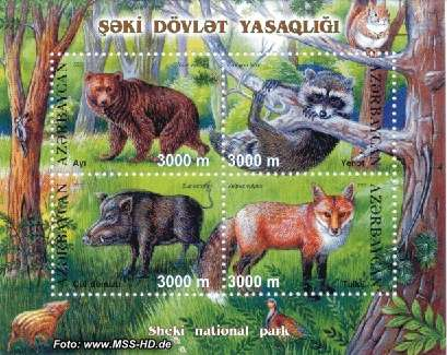 Briefmarken-Ausgabe Aserbaidschan: Sheki Park