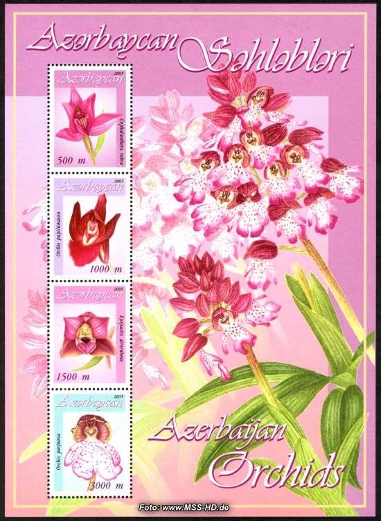 Briefmarken-Ausgabe Aserbaidschan: Orchideen - Block