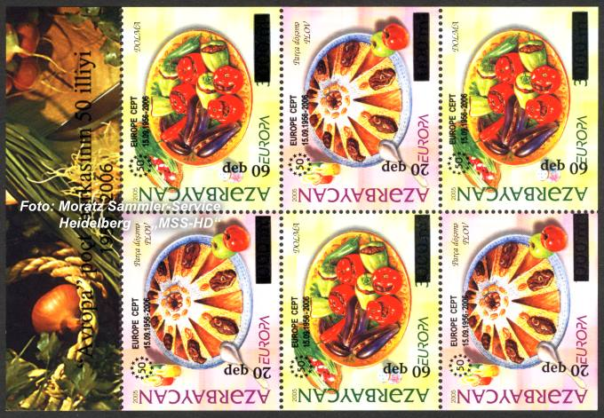 Stamp Issue Azerbaijan: 50 Years Europe CEPT Companionship 2006