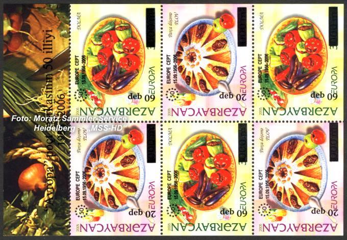 Briefmarken-Ausgabe Aserbaidschan: 50 Jahre Europa CEPT Gemeinschaftsausgaben 2006