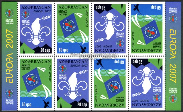 Stamp Issue Azerbaijan: Europe CEPT Companionship 2007 - Scouting