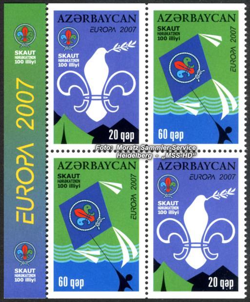 Briefmarken-Ausgabe Aserbaidschan: Europa CEPT Gemeinschaftsausgabe 2007 - Pfadfinder