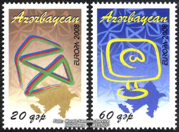 Briefmarken-Ausgabe Aserbaidschan: Europa CEPT Gemeinschaftsausgabe 2008 - Der Brief
