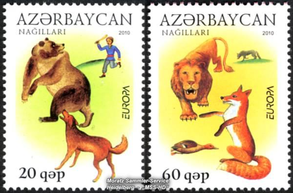 Briefmarken-Ausgabe Aserbaidschan: Europa CEPT Gemeinschaftsausgabe 2010 Kinderbücher