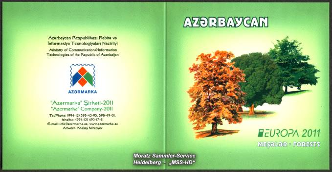 Stamp Issue Azerbaijan: Europe CEPT Companionship 2011 Forests