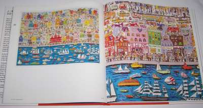 "Example side from book #1 of James Rizzi ""3-D Constructions"", 1988"