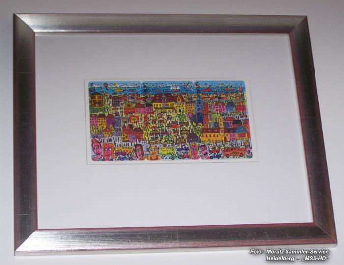 James Rizzi - Heilbronn Edition - Phone Card Puzzle - in Frame