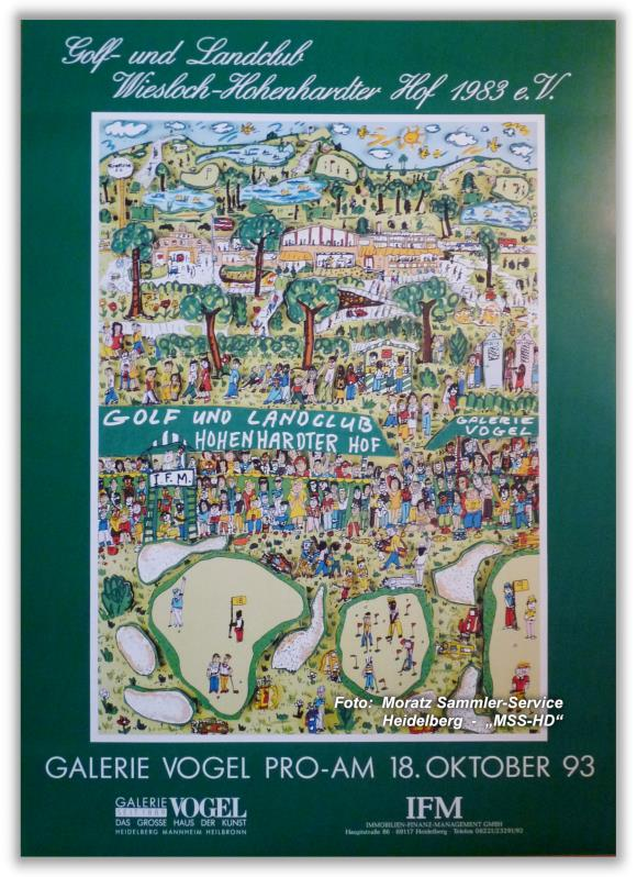 "James Rizzi: ""Golf-Turnier"" Poster / Plakat, 1993"