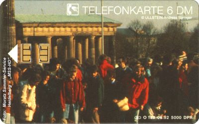 "German Phone Card O-195 From The Puzzle ""Brandenburg Gate 1989"""