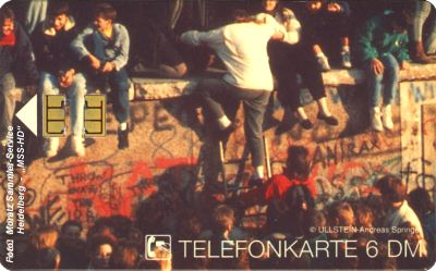 "German Phone Card O-210 From The Puzzle ""Brandenburg Gate 1989"""