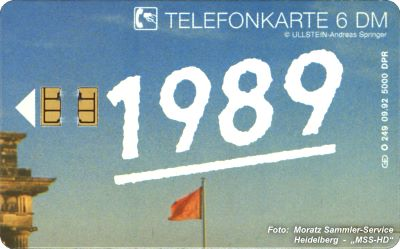"German Phone Card O-249 From The Puzzle ""Brandenburg Gate 1989"""