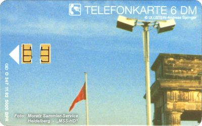 "German Phone Card O-347 From The Puzzle ""Brandenburg Gate 1989"""