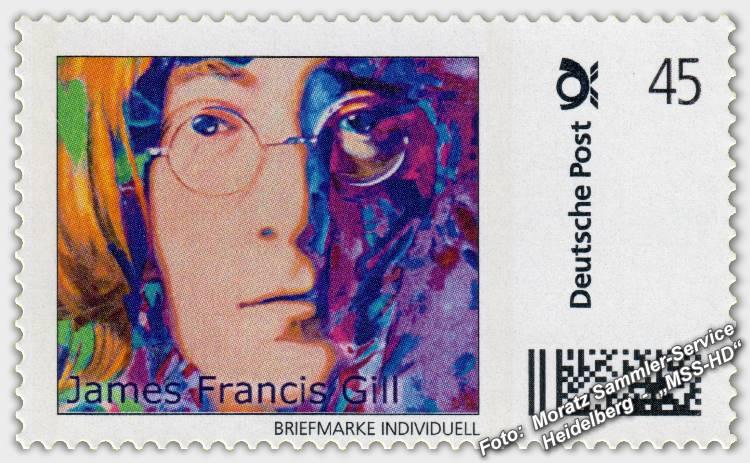 James Francis Gill - Briefmarke - postage stamp - John (John Lennon)