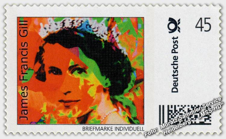 James Francis Gill - Briefmarke - postage stamp - Her Majesty