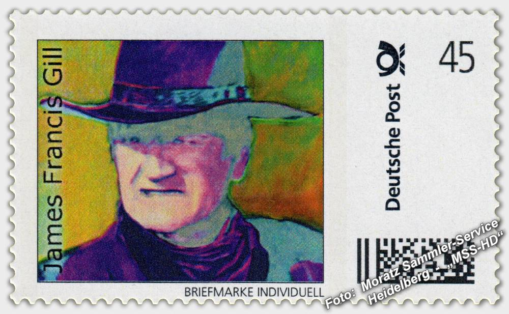 "James Francis Gill - Briefmarke - postage stamp - ""Duke in Desert Shadow"" (John Wayne)"