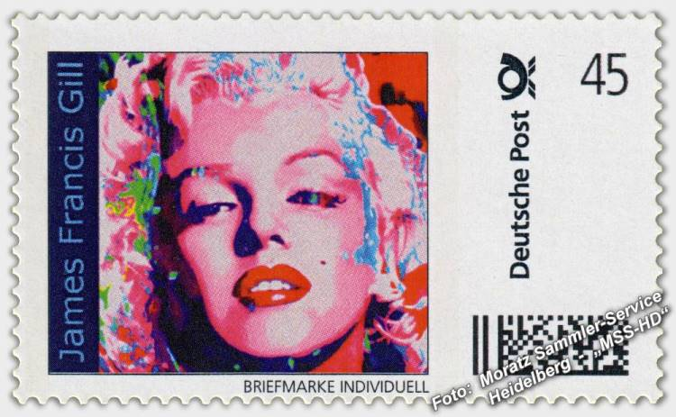 James Francis Gill - Briefmarke - postage stamp - Pink Marilyn