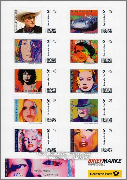 James Francis Gill - Briefmarken - stamps